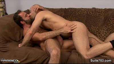 Gorgeous married guy gets hard fucked by a gay