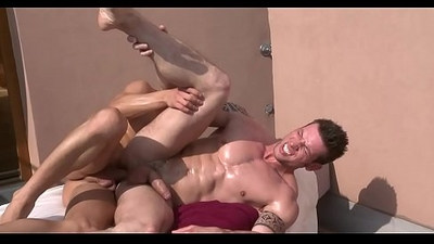Sexual dildo play for handsome homosexual hunk