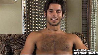Sharp Handsome Latino Royalty Jacks Off
