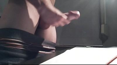 erect uncut cock