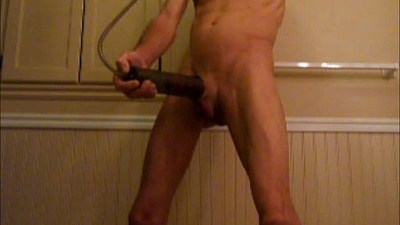 Big Pumped Cock, Shaved, and Up My Penis with Huge Plug