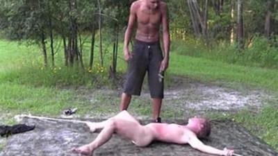 bondage slave black meat white