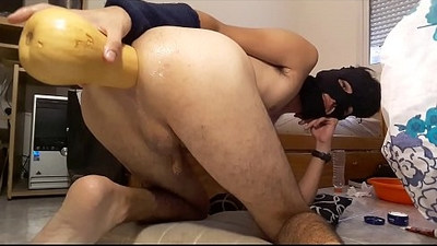 Anal hole destroying and piss