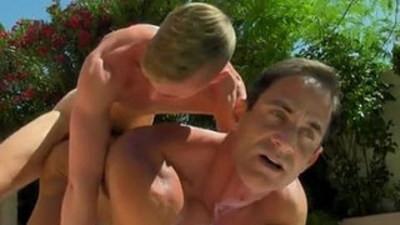 Free gay football Daddy Poolside Prick Loving