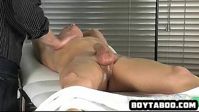 Oiled up amateur stud getting his hard big cock tugged